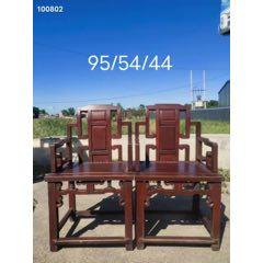 民国榉木太师椅一对,品相一流,全品无修补,使用佳品。