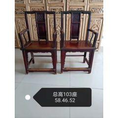 清代四喜官帽椅,包浆混厚,结实耐用,尺寸58.46.52