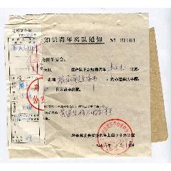 1978年寿县下乡知识青年离队通知(se83243798)_7788收藏__收藏热线