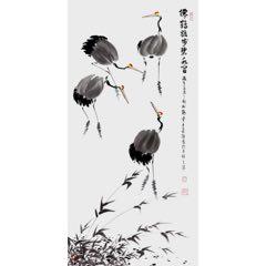 赵松林(仙鹤踱步碧水间)