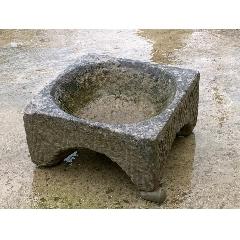 清代石火盆,温石,惜一足有残-¥1,800 元_石盆/石槽_7788网