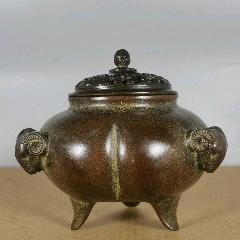 铜三羊开泰熏炉,不议价-¥358 元_铜炉_7788网