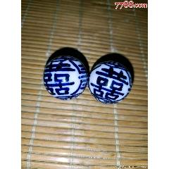 白地囍字青花瓷珠子(wh249492)_7788收藏__收藏熱線