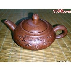 古玩杂项收藏紫砂圆茶壶摆件(wh249735)_7788收藏__收藏热线