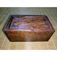 老红木花梨木机关推拉门首饰盒木质盒子