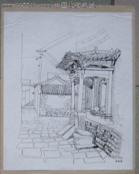 美院学生速写画稿——户外02(钢笔画)