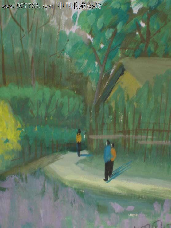 50-60年代,画纸-原创水彩画城市小镇风景