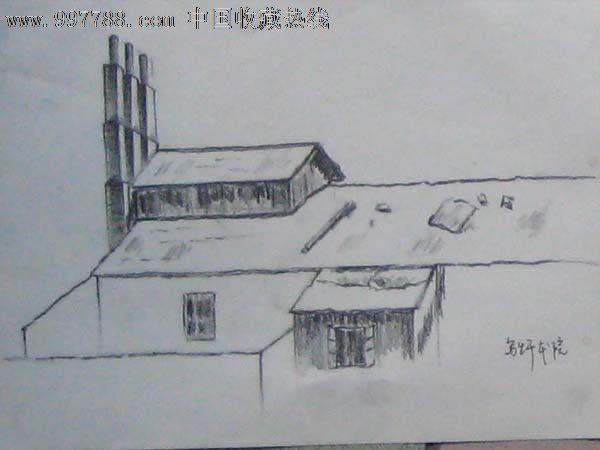 s001151 品种: 素描/速写-素描/速写 属性: 铅笔画原画,,建筑风景,,80