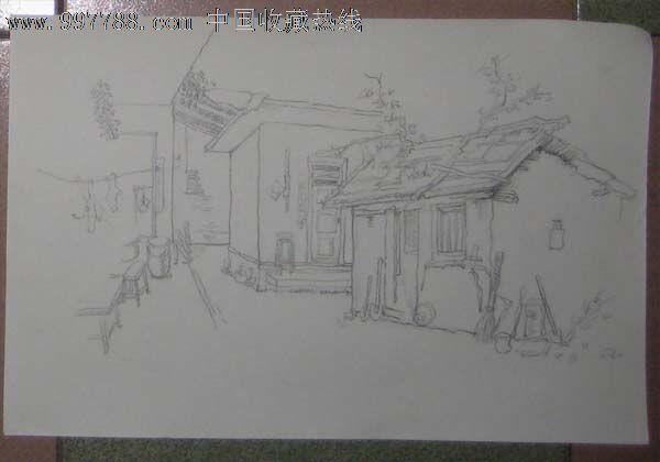 铅笔画——老房子2