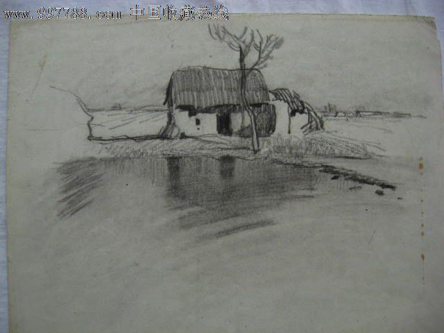 铅笔画风景画初学者