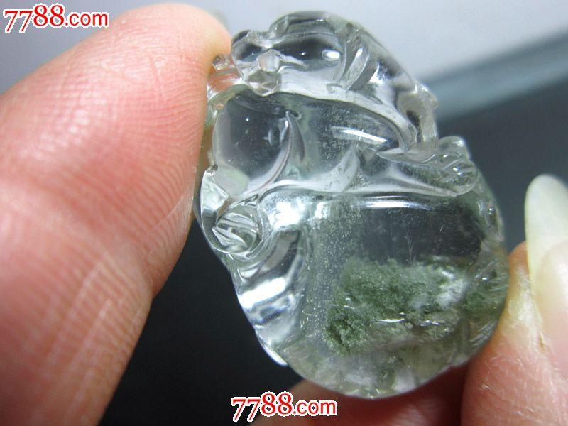 天然水晶綠幽靈貔貅圖片
