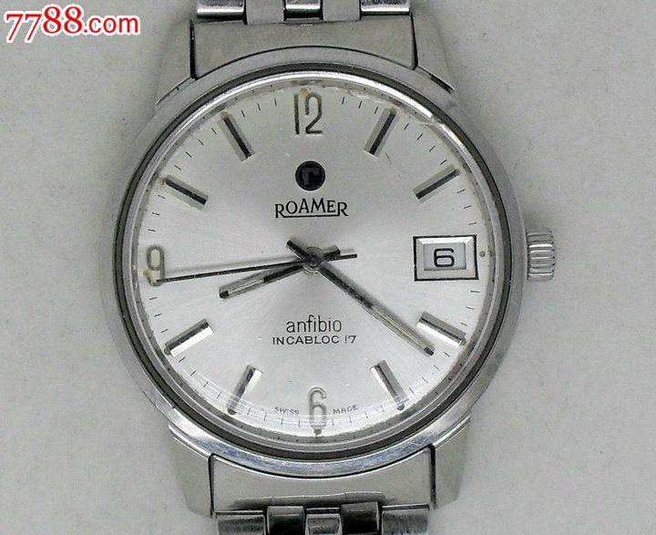 瑞士原装罗马roamer单日历男士手表图片