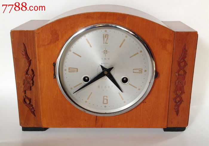 怀旧收藏老钟表老式机械座钟火北极星牌座钟七八十年代老钟表图片