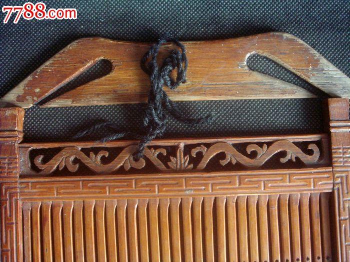 民国边饰精美的老竹编织带子工具全套.