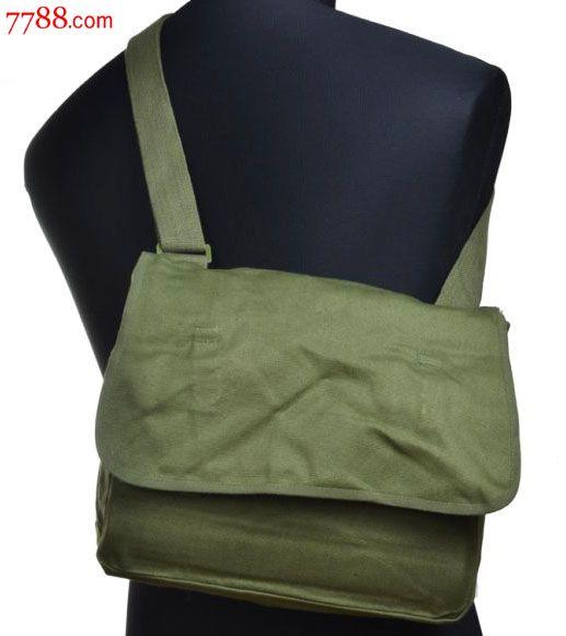 军迷正品65式军挎包70年代生产帆布老挎包单肩包书包雷锋包解放包图片