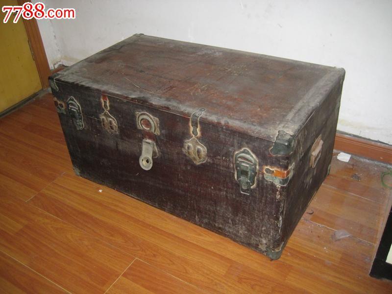 老樟木箱大樟木箱老家具书画箱老箱子古董箱子