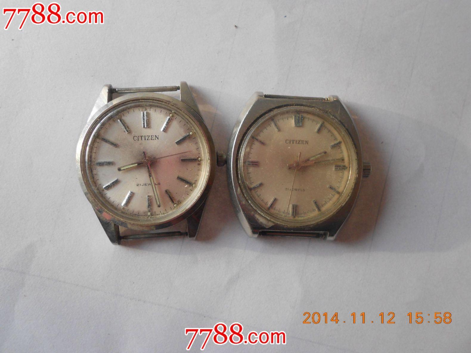 老西铁城手表;两只_价格:200.0000元--se26964098--古