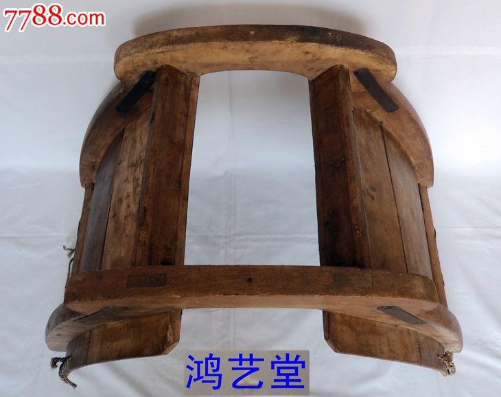 木雕老马鞍民俗手工木艺车驾农具古玩杂项怀旧古董收藏老物件