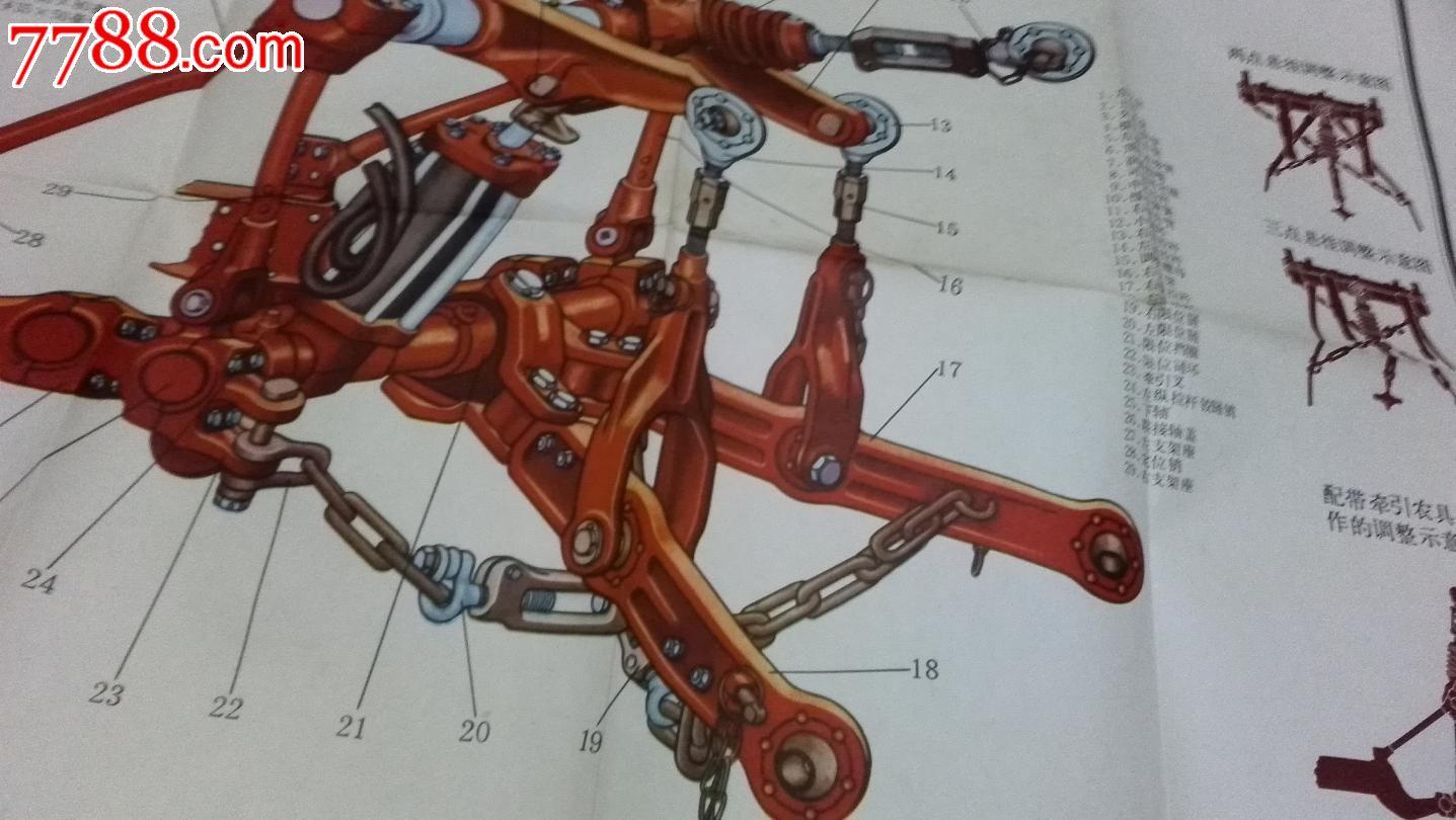 东方红-75拖拉机结构挂图