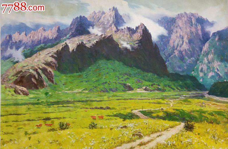 朝鲜功勋画家申成变风景油画_第5张_7788收藏__中国收藏热线图片