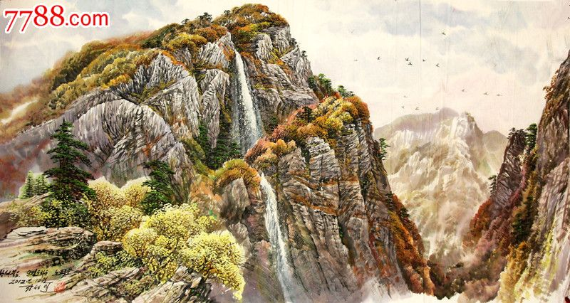 朝鲜一级画家张成日风景图片