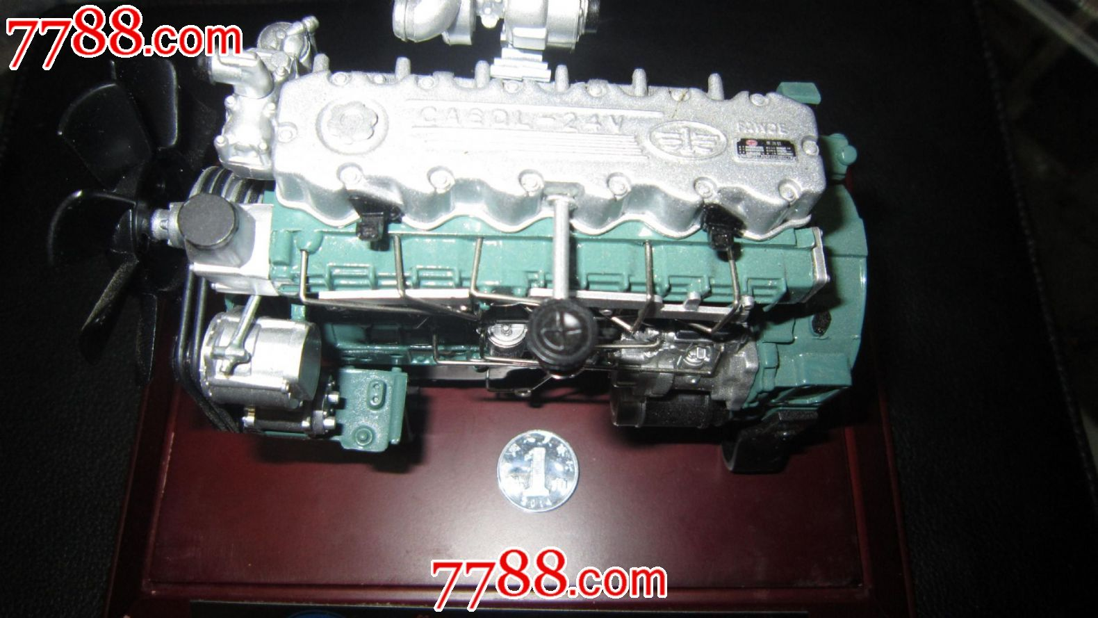 发动机模型(全新带原玻璃盒):一汽解放汽车公司