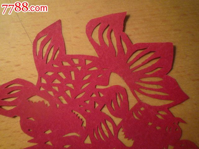 剪金鱼窗花步骤图解