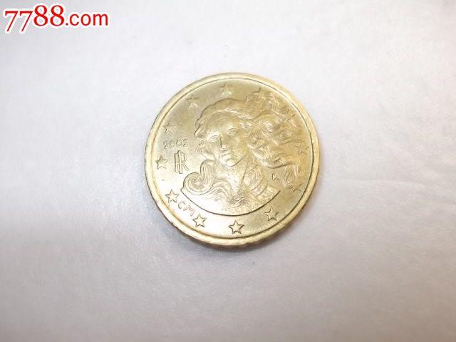 欧元2002年意大利10欧分硬币图片