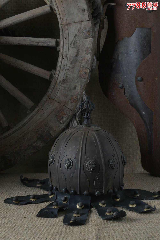古代将军全铜头盔