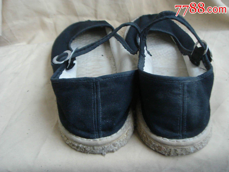 橡胶底布鞋女
