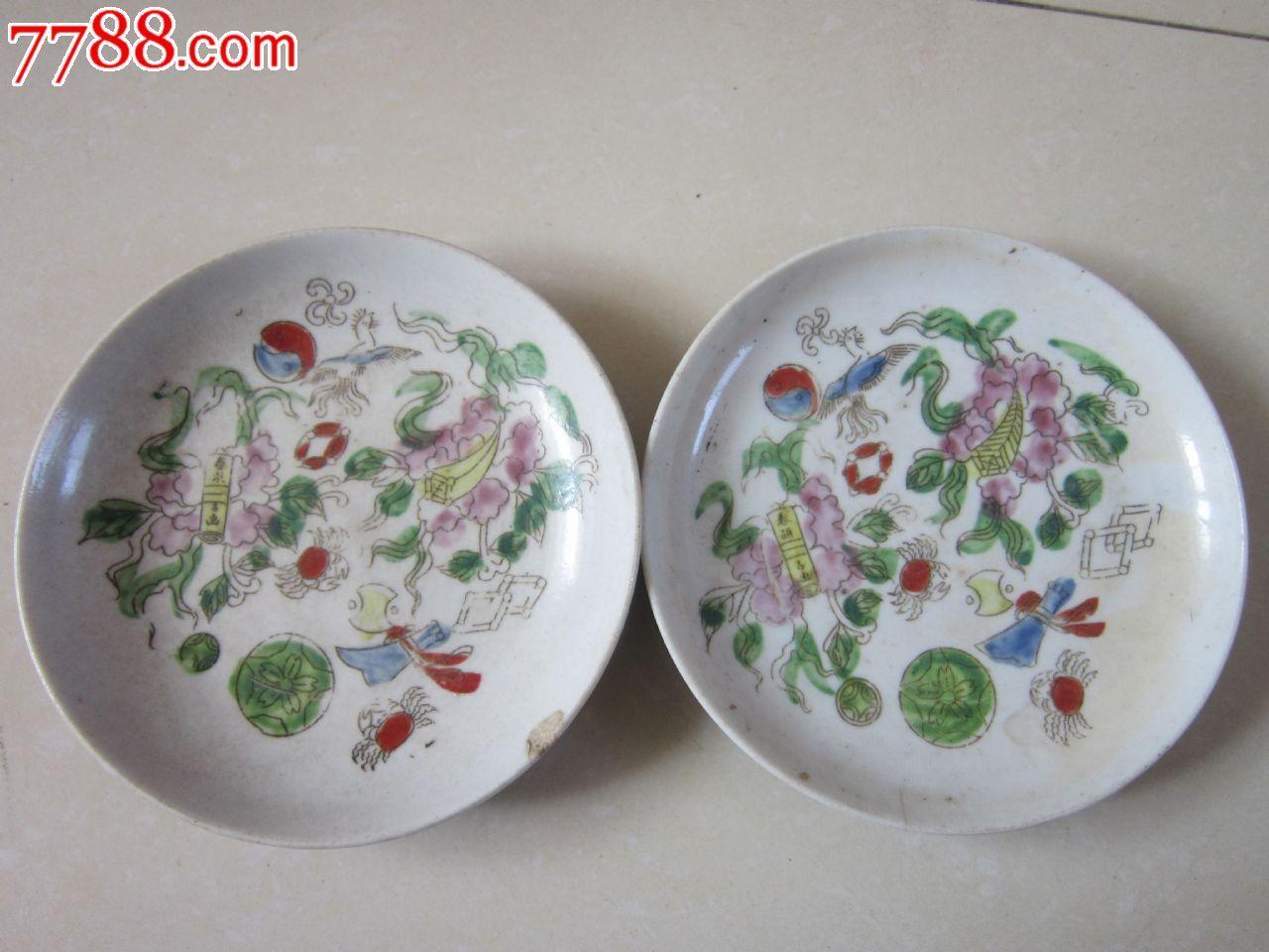 手绘盘子花卉图案