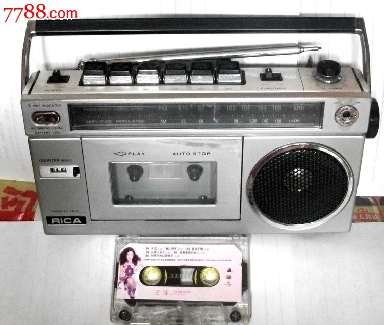 80年代小录音机rica收录机,收fmam良好.8*元.值得收藏!