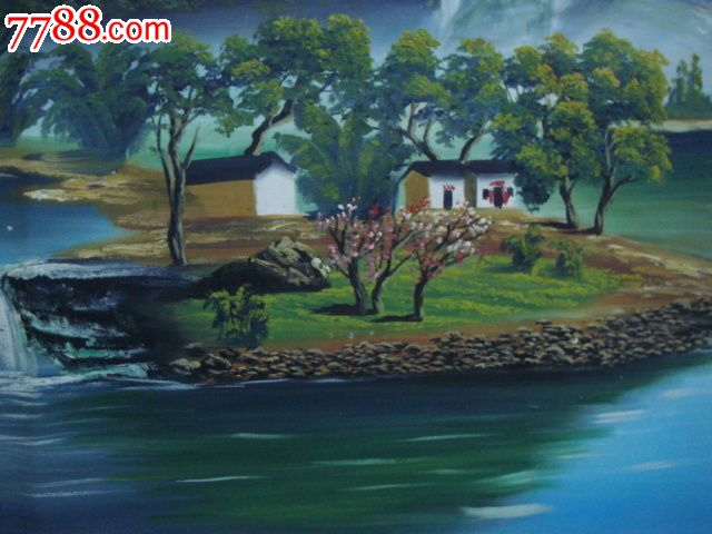 油画--桂林山水(作者:李黑)