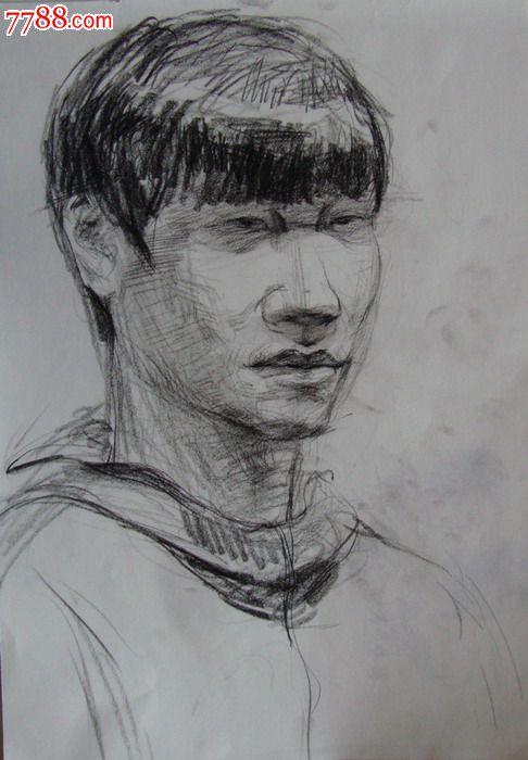 【画院学生·素描绘画原稿】人物·半身像