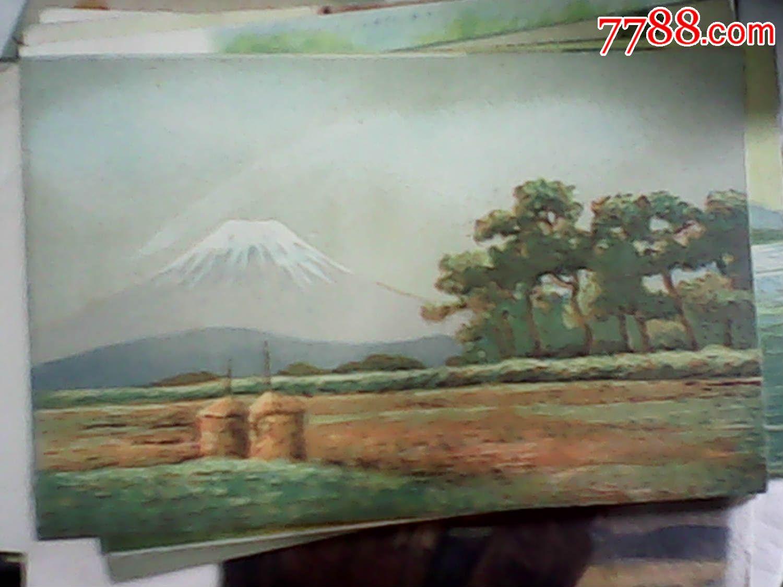 满洲国手绘明信片(风景人物图片)(早期/日文)