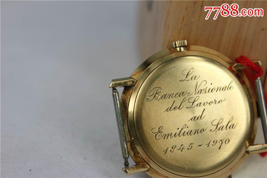 库存品相--18k实金古董欧米茄超薄自动腕表图片