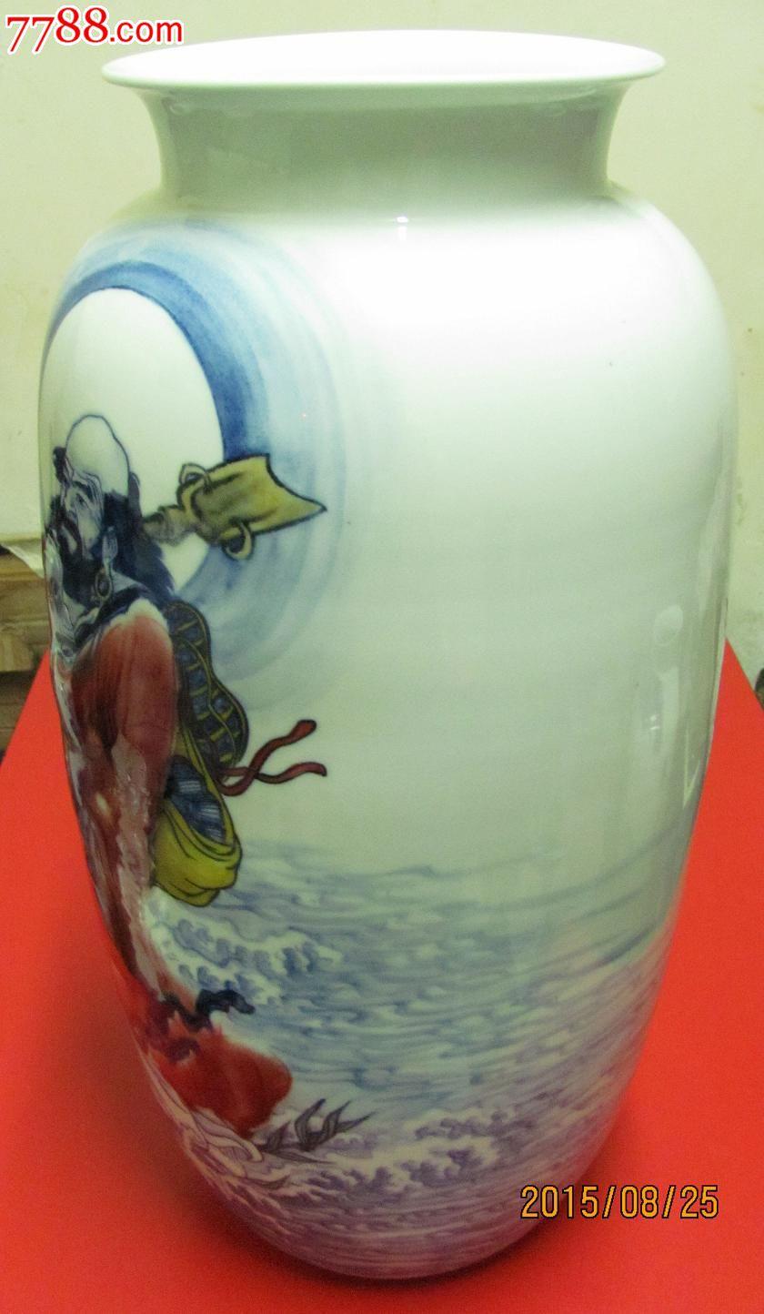 一苇东渡·瓷瓶·江西省高级陶瓷美术师曹文选陶瓷艺术作品