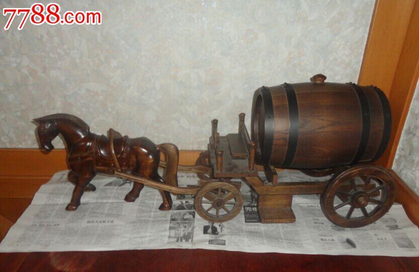 木质马车酒桶