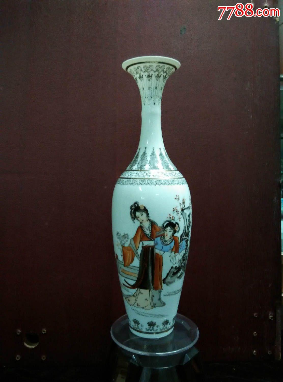 中国名瓷景德镇珍品:极品薄胎柳叶瓶图片