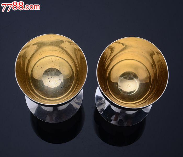 什么人带银脚�_110克带原盒日本玉屋制950银高脚酒杯带原箱西洋古董银器收藏