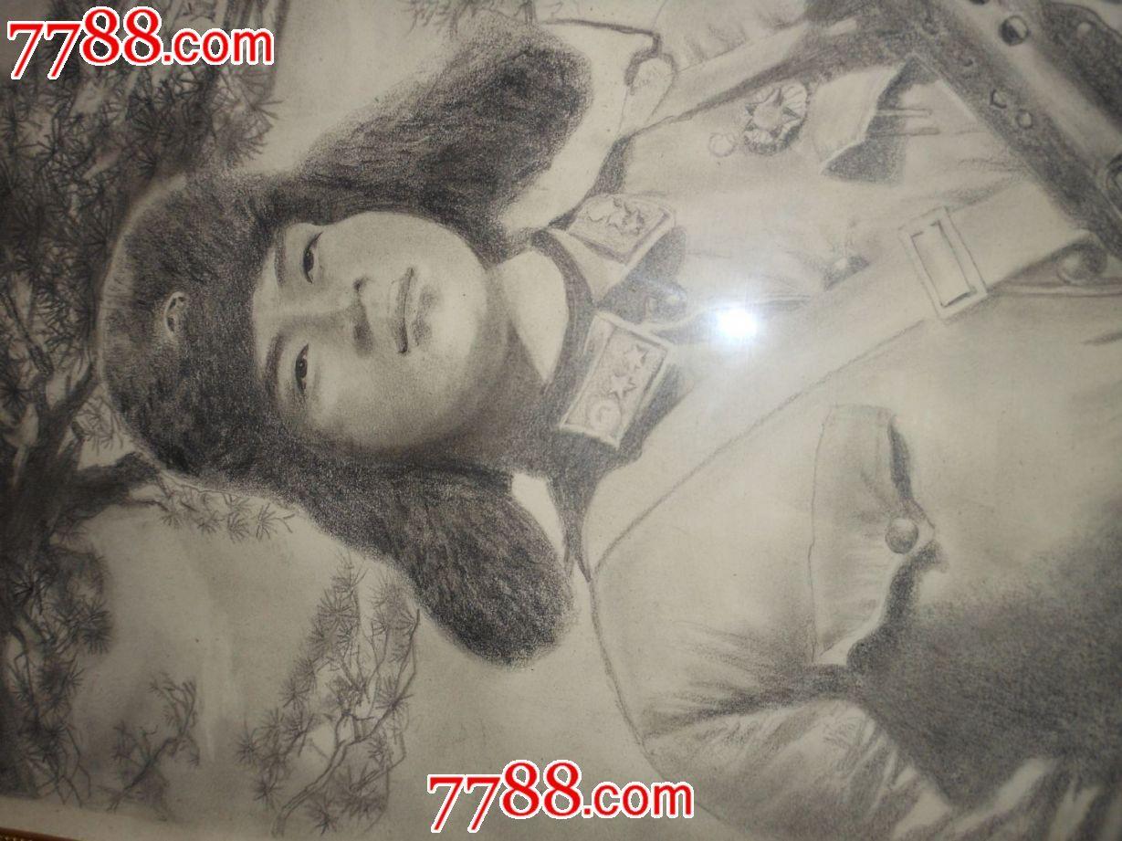 铅笔画原作【】精美绝伦的雷锋_山水国画原作_老古董