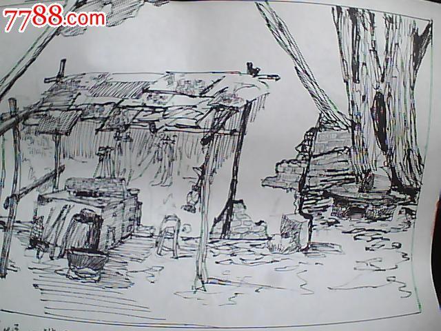 画稿:《铁匠炉》场景气氛图(一张合售)
