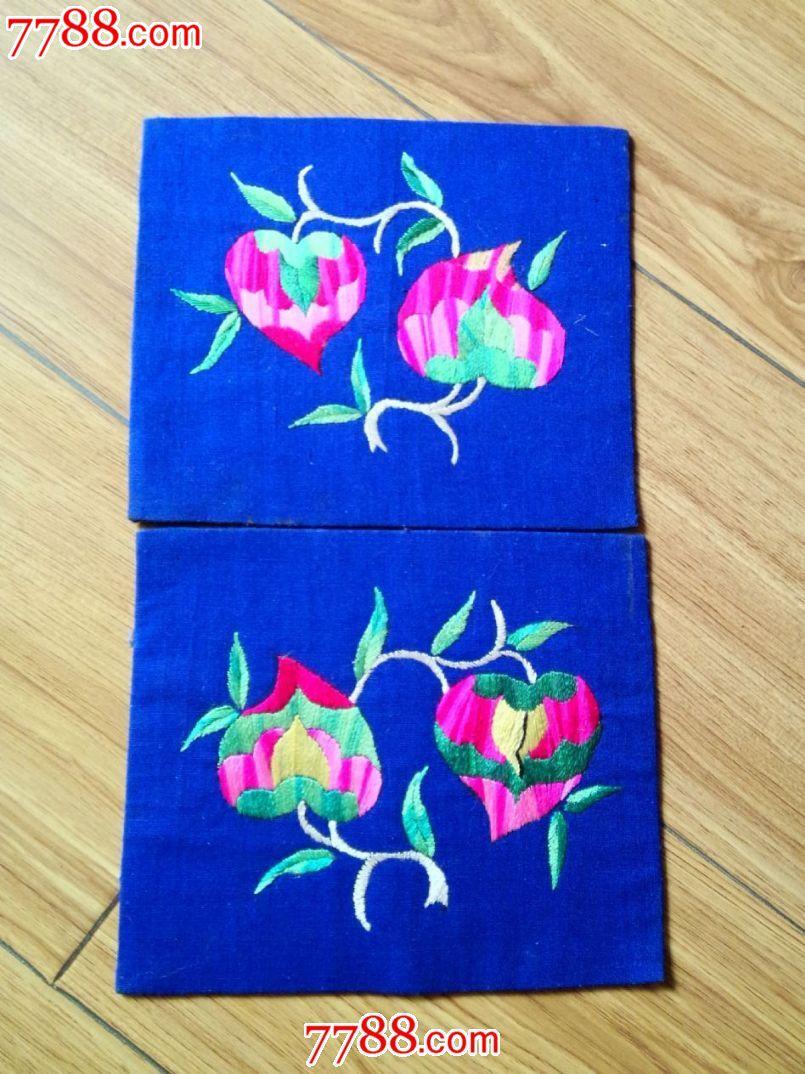 清末民国时期东北满族刺绣——好品枕头顶三对同售