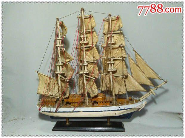 一艏精美的手工制作大木帆船