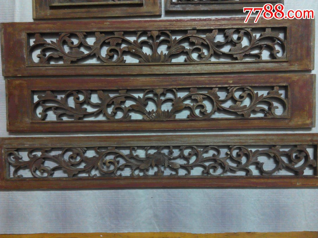 木雕/花板_木雕花板_中国纸品杂件收藏【7788收藏