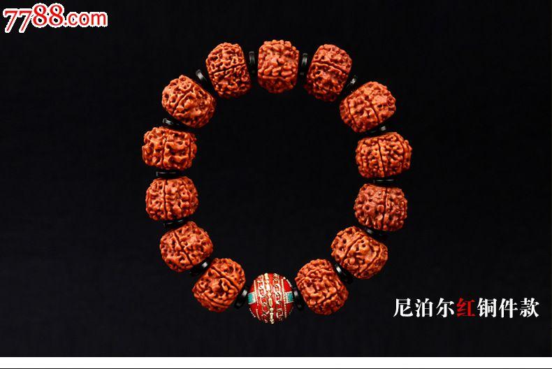 尼泊尔藏式金刚菩提手串6六瓣红肉金刚1.8佛珠饰品男女图片
