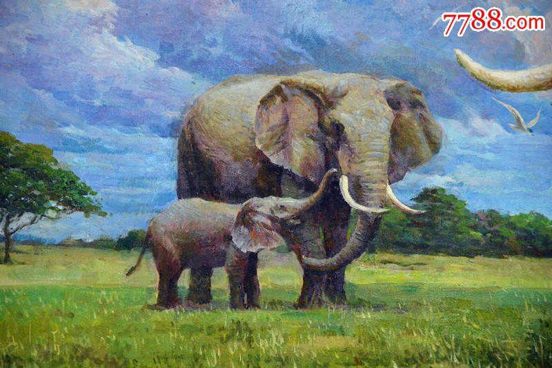 朝鲜油画一级画家油画动物油画3