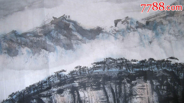 水墨山水画横幅,尺寸不小,水平还不错,写生原创作品,值得图片