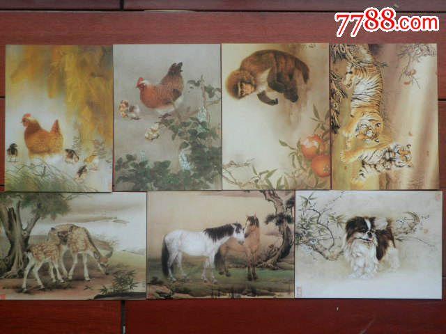 工笔画动物明信片36张(非常漂亮)