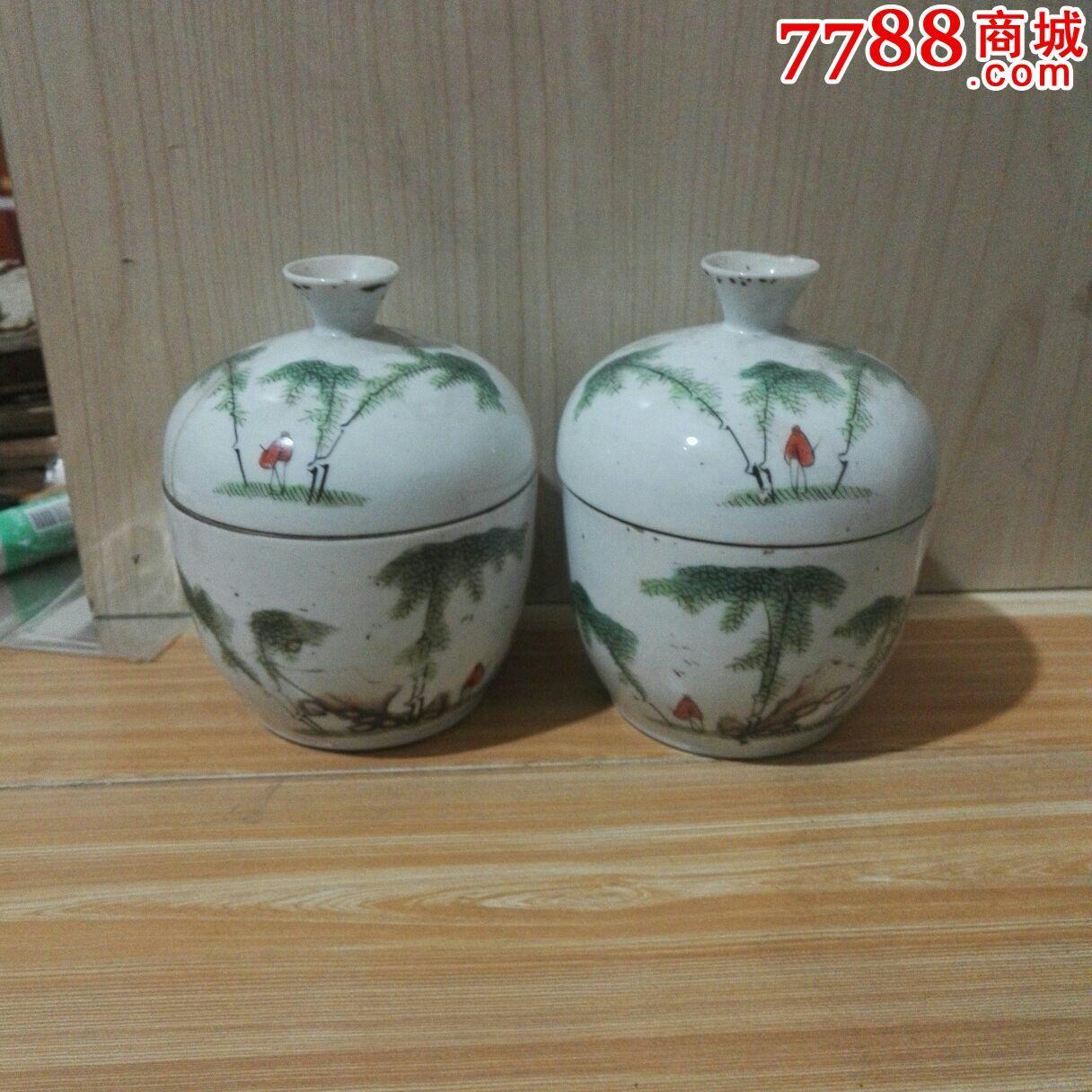 茶杯一对(陶莲溪绘)(se35037142)_